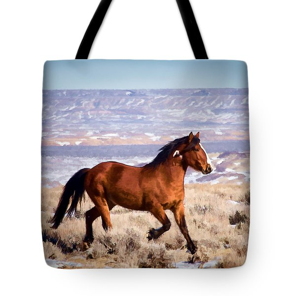 Eagle - Wild Horse Stallion Tote Bag