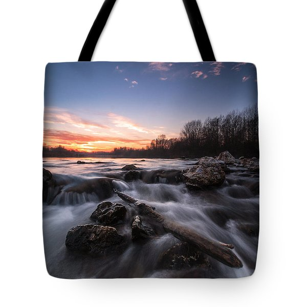 Wild River Tote Bag by Davorin Mance
