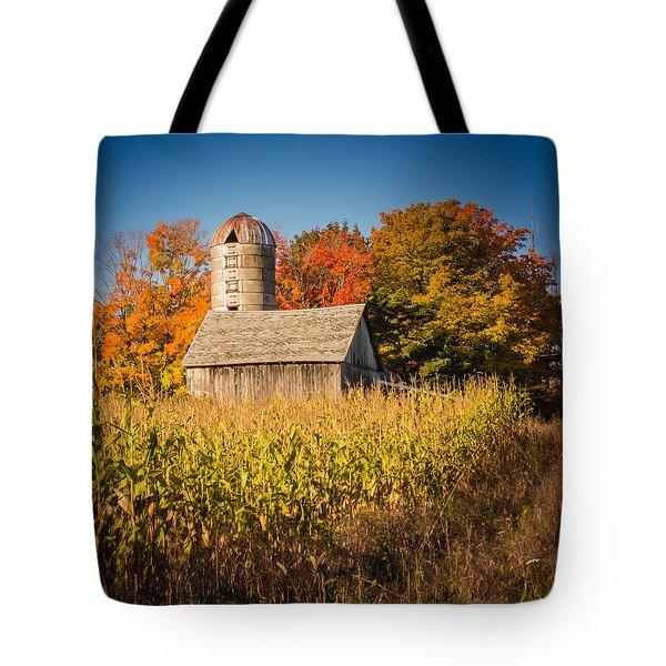 Wildwood Farm In Fall Tote Bag