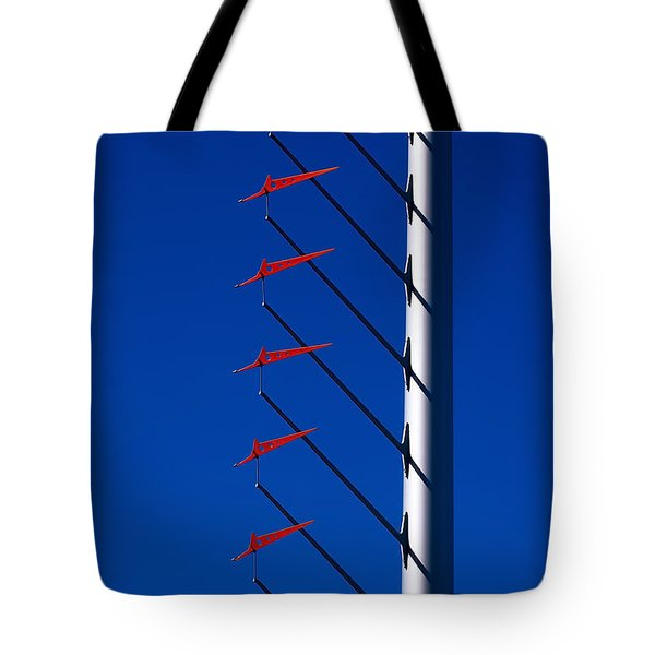Wind Arrows Tote Bag by Rona Black