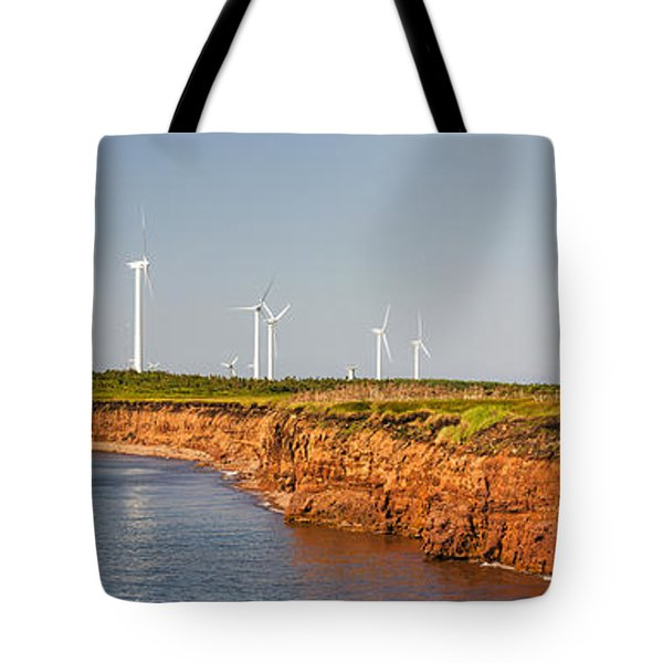 Wind Turbines On Atlantic Coast Tote Bag by Elena Elisseeva