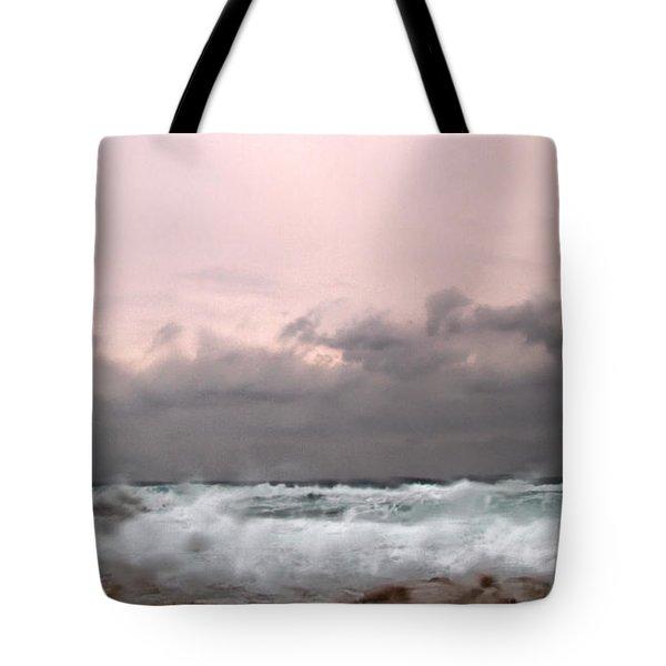Window Sea Storm  Tote Bag by Stelios Kleanthous