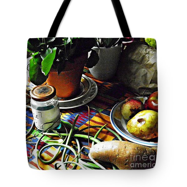 Window Table In Harlem Tote Bag by Sarah Loft