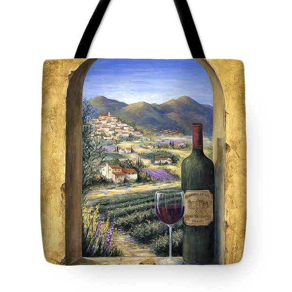 Wine And Lavender Tote Bag