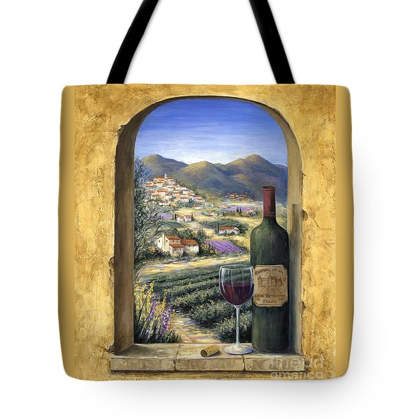 Wine And Lavender Tote Bag
