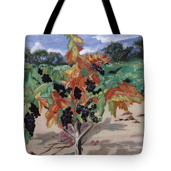 Wine Country Tote Bag by Reba Baptist