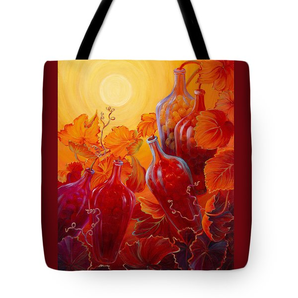 Tote Bag featuring the painting Wine On The Vine II by Sandi Whetzel