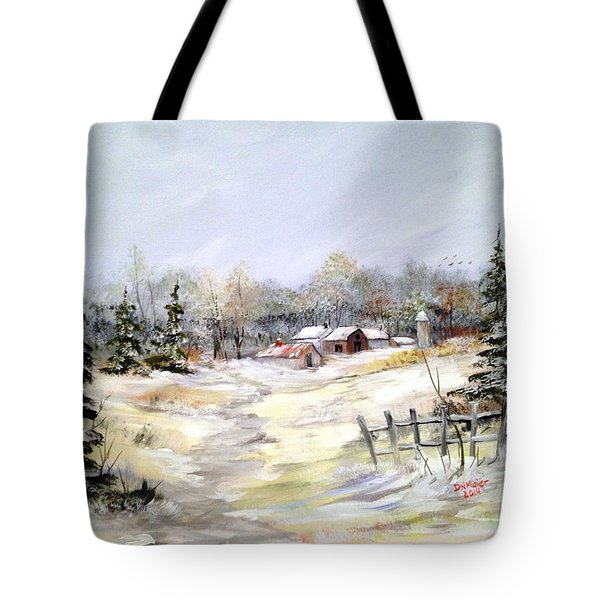 Winter At The Farm Tote Bag