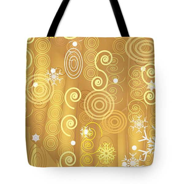 Tote Bag featuring the digital art Winter Dress Detail by Kim Prowse