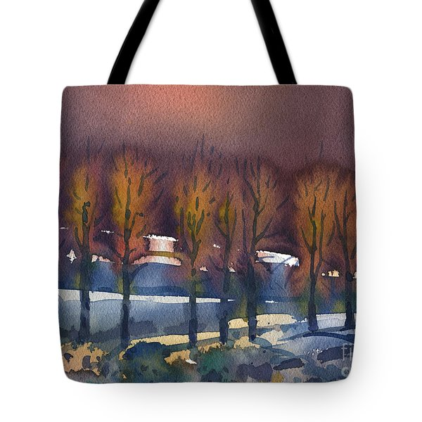 Tote Bag featuring the painting Winter Fantasy by Donald Maier