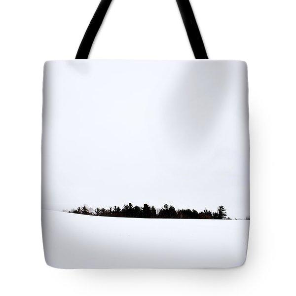 Winter Minimalism Tote Bag by Edward Fielding