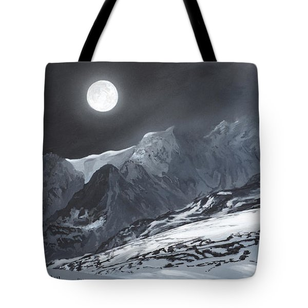 Winter Moon Tote Bag