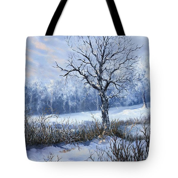 Tote Bag featuring the painting Winter Slumber by Lynne Wright