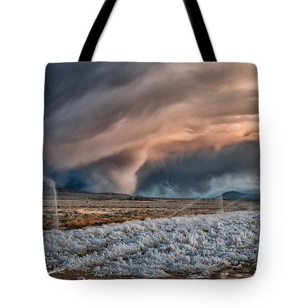 Winter Storm Tote Bag by Cat Connor