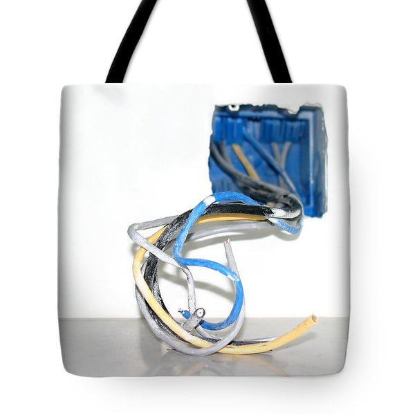 Tote Bag featuring the photograph Wire Box by Henrik Lehnerer