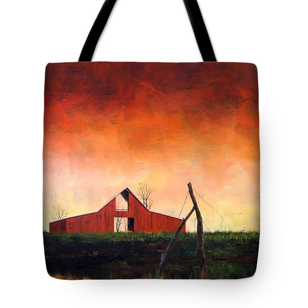 Tote Bag featuring the painting Wired Down by William Renzulli