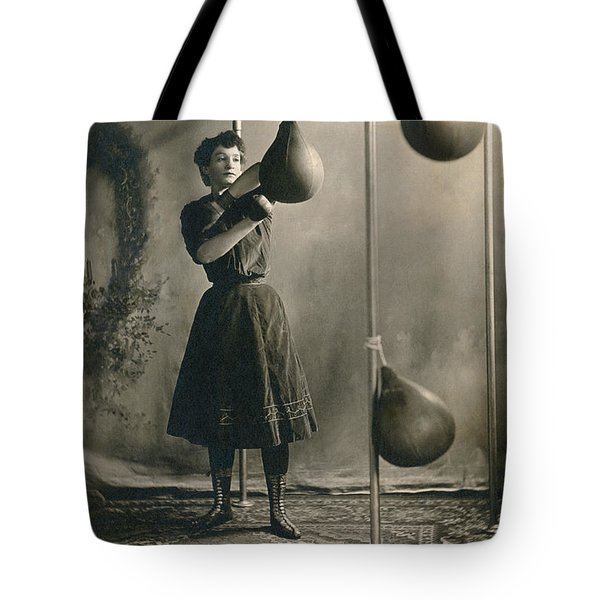 Woman Boxing Workout Tote Bag