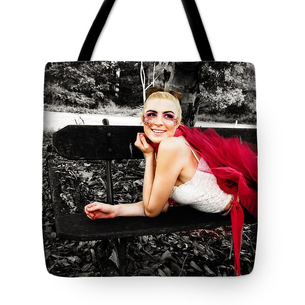 Woman In Tutu Tote Bag