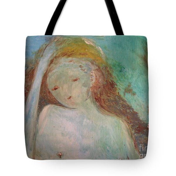 Tote Bag featuring the painting Woman Of Sorrows by Laurie L