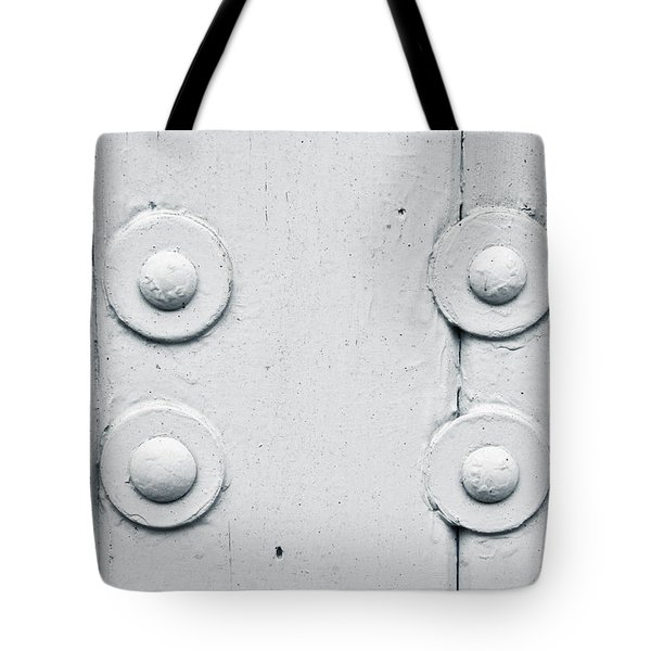 Wood And Bolts Tote Bag by Tom Gowanlock