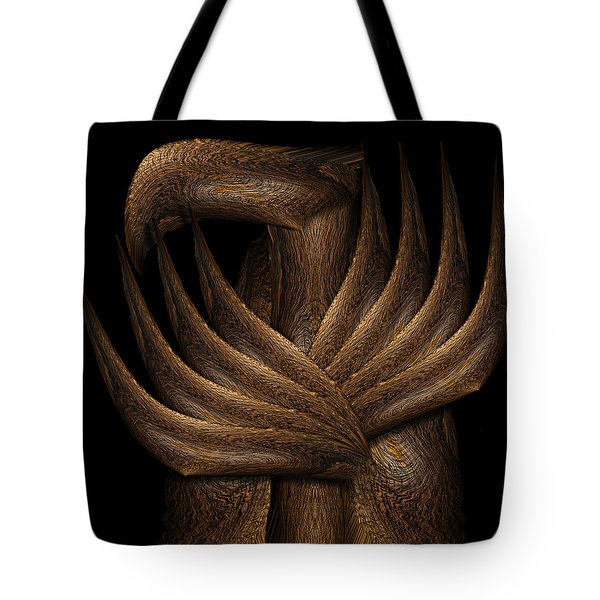 Wooden Bird Tote Bag by Christopher Gaston