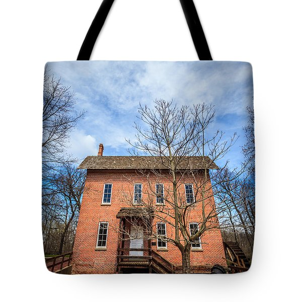 Wood's Grist Mill In Deep River County Park Tote Bag by Paul Velgos