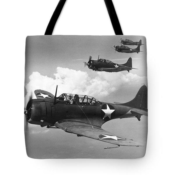 World War II: U.s. Bombers Tote Bag