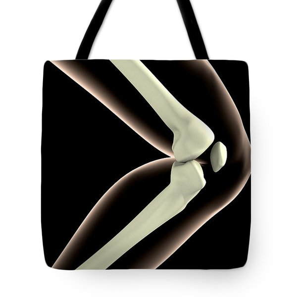 X-ray Image Of Knee Tote Bag by Stocktrek Images