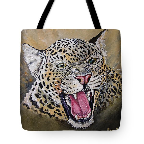 Tote Bag featuring the painting Yawn by Anthony Mwangi