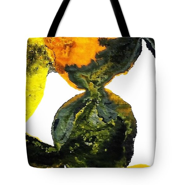 Yellow And Gray Interactions 8 Tote Bag by Amy Vangsgard