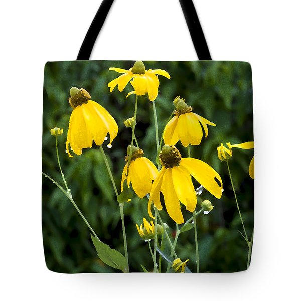 Yellow Cone Flowers Rudbeckia Tote Bag by Rich Franco