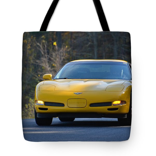 Yellow Corvette Tote Bag