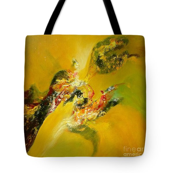 Yellow  Harmony Tote Bag