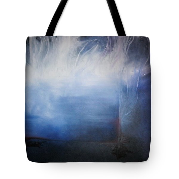 Tote Bag featuring the painting YOD by Carrie Maurer