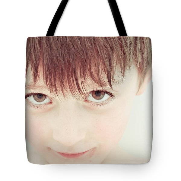 Young Boy Tote Bag by Tom Gowanlock