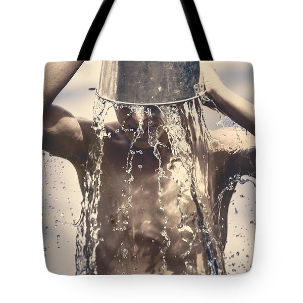 Young Man Having Fun On A Tropical Summer Holiday Tote Bag by Jorgo Photography - Wall Art Gallery