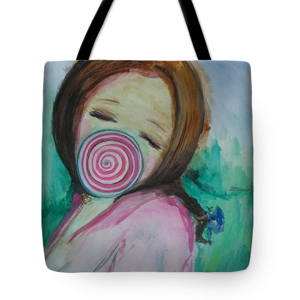 Tote Bag featuring the painting You're Beautiful by Laurie L