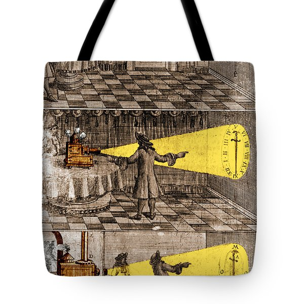 Zahn Light Projection Apparatus 1685 Tote Bag by Science Source