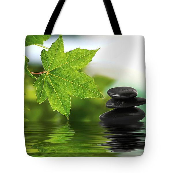 Zen Stones On Water Tote Bag