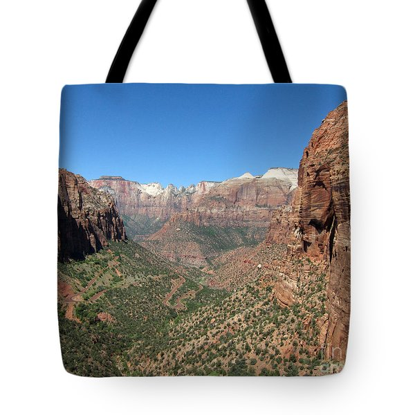 Zion Canyon Overlook Tote Bag by Debra Thompson