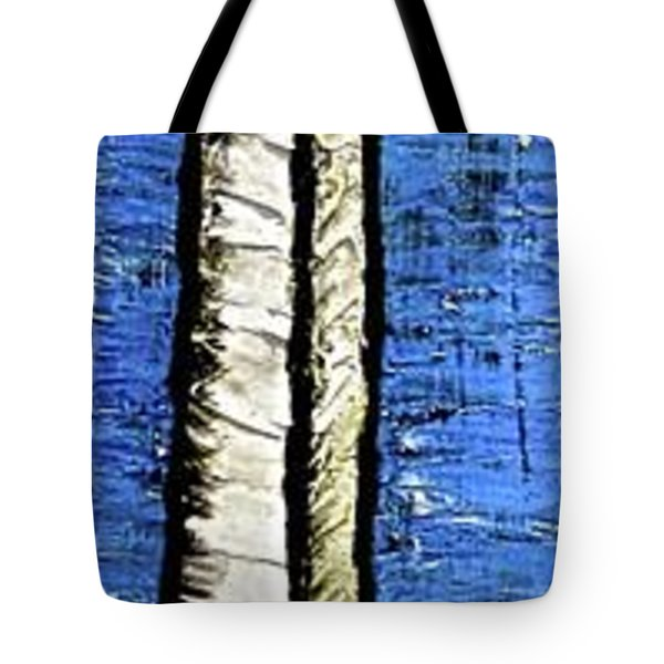 Tote Bag featuring the painting 10-001 by Mario Perron