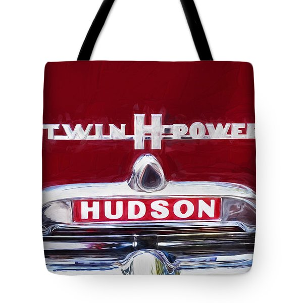 1952 Hudson Hornet 4 Door Sedan Twin H Power Painted  Tote Bag