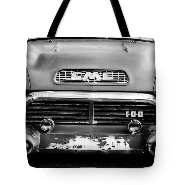 1957 Gmc V8 Pickup Truck Grille Emblem Tote Bag