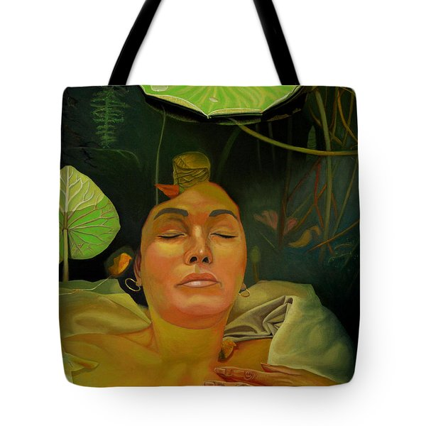 Tote Bag featuring the painting 10 30 A.m. by Thu Nguyen