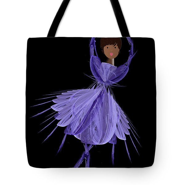 10 Blue Ballerina Tote Bag by Andee Design