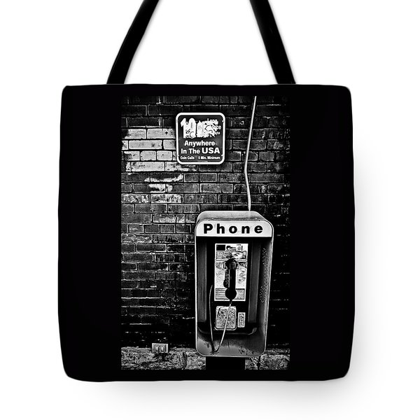 10 Cent Phone Call Tote Bag by Greg Jackson