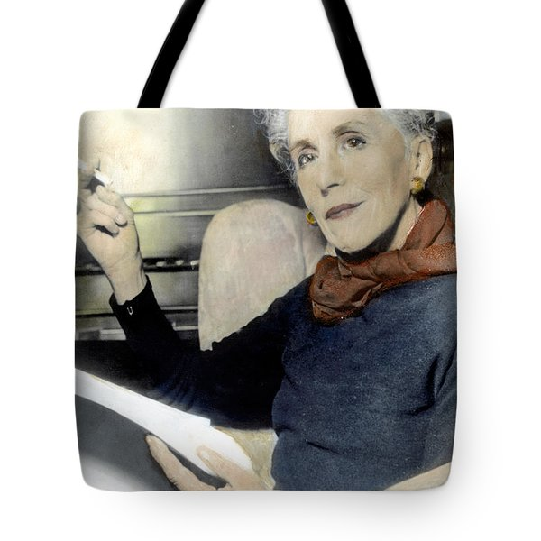 Tote Bag featuring the photograph Isak Dinesen (1885-1962) by Granger