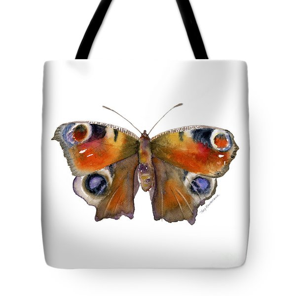10 Peacock Butterfly Tote Bag by Amy Kirkpatrick
