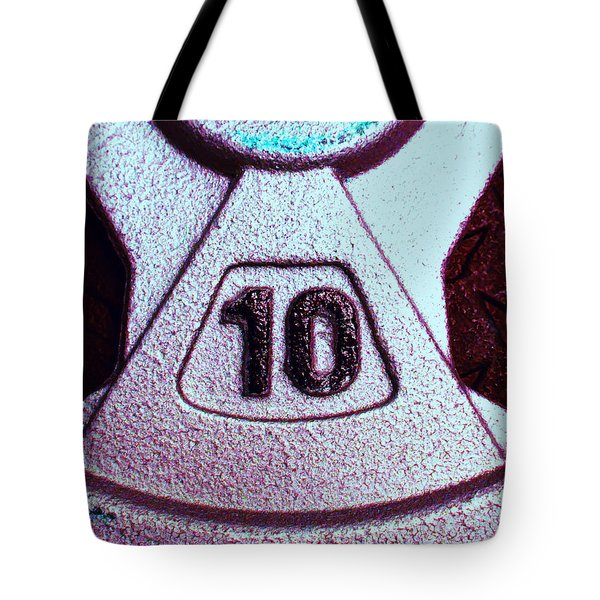 10 Pound Weight 2 Tote Bag by Laurie Tsemak