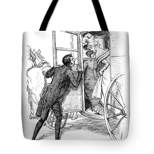 Scene From Pride And Prejudice By Jane Austen Tote Bag